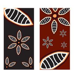Aboriginal art background icon logo template vector