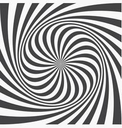 Abstract background spiraling strips op art vector