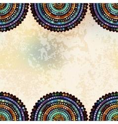 Abstract circles border vector
