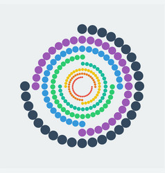 abstract geometric figure colorful dots in circle vector image