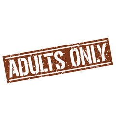 Adults only square grunge stamp vector