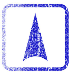 Arrowhead up framed textured icon vector