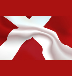 Background danish flag in folds kingdom of vector