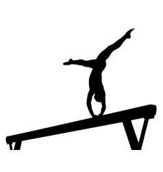 balance beam girl gymnast vector image