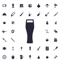 Beer glass icon vector
