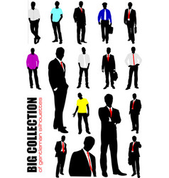 big collection of gentlemen in office over white vector image