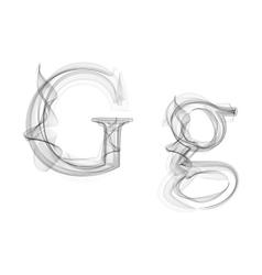 Black Smoke font Letter G vector