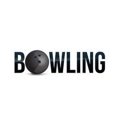 Bowling word art vector