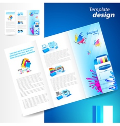 Brochure printer cmyk prepress polygraphy ink vector