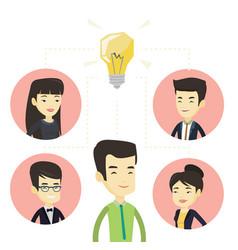 Businessmen discussing business ideas vector