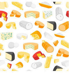 cheese product dairy background pattern vector image