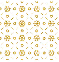 christmas pattern background with golden vector image
