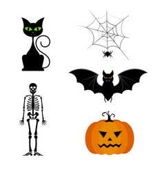 collection of different cute black vector image