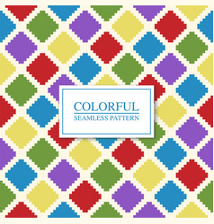 colorful seamless geometric pattern bright vector image