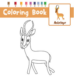 Coloring page african animal antelope vector