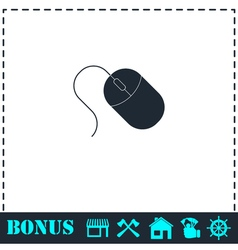 Computer mouse icon flat vector