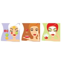 Cosmetology procedures vector