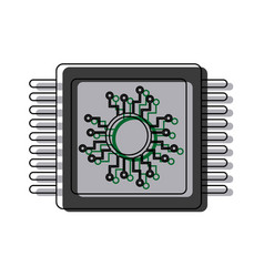 Cpu microprocessor circuit board connect vector