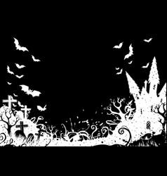 dark halloween background vector image