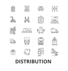 Distribution delivery sales system retail vector