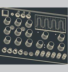 electronics diagnostic equipment oscilloscope vector image