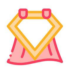 emblem hero symbol icon outline vector image