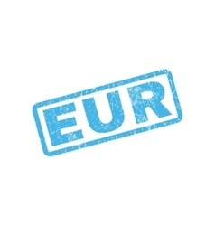 Eur Rubber Stamp vector image