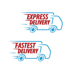 Express delivery fastest delivery icon set vector