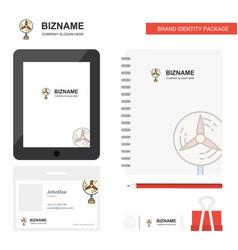 fan business logo tab app diary pvc employee card vector image