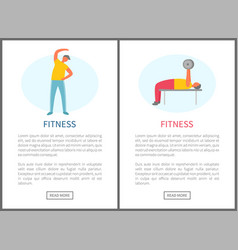 fitness web stretching and pumping men vector image