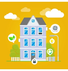 Flat House Infographic vector image