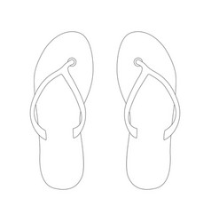 flip-flops lining draw vector image