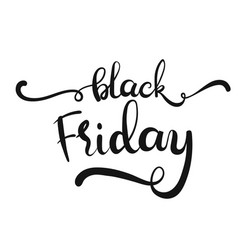 hand drawn lettering - black friday vector image