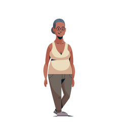 happy elderly woman smiling casual african vector image
