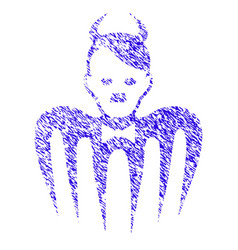 Hitler spectre devil icon grunge watermark vector