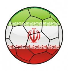 iran flag on soccer ball vector image