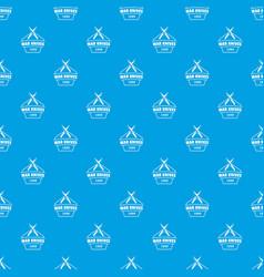 knive war pattern seamless blue vector image
