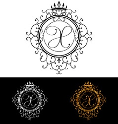 Letter X Luxury Logo template flourishes vector