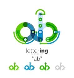 Linear business logo letter vector image