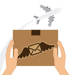 mail send vector image