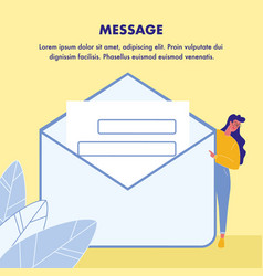 message poster template with text space vector image