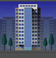 modern high-rise flat vector image