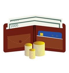 Money wallet vector