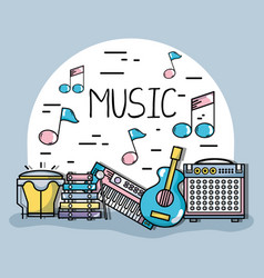 music elements to play harmony rhythm vector image