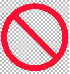 no sign isolated on transparent background flat vector image