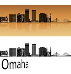 Omaha V2 skyline in orange vector image vector image
