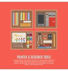 Painter And Designer Tools Concept vector
