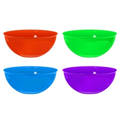 Plastic bowls vector