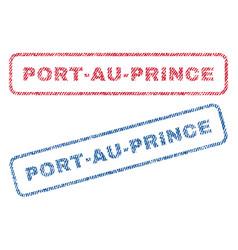 port-au-prince textile stamps vector image