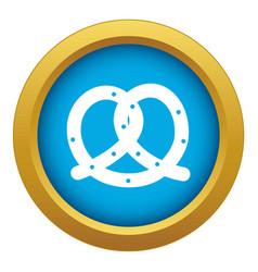 Pretzel icon blue isolated vector